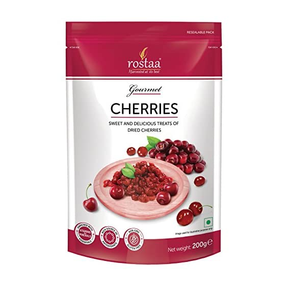 Rostaa Std Pouch Dried Cherries Pouch, 200 g