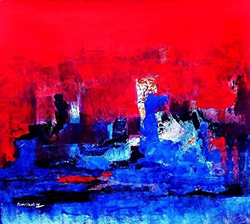 Blue City (Acrylic Painting by Reena Singh)