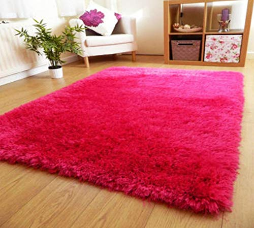 Smiling Home Polyester Blend Carpet (22×55-inch, Pink)