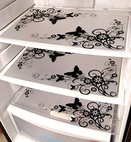 Ketsaal Pack of 3 PVC Multipurpose Fridge Mats/Drawer Mats Butterfly Design Price & Reviews
