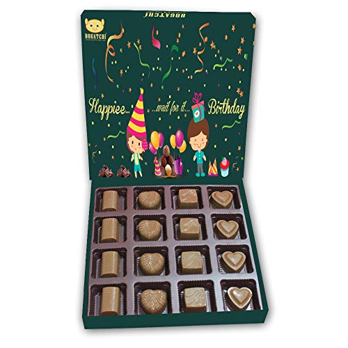BOGATCHI Gift Ideas, Happy Birthday Chocolates Pack, Celebrations, Dark Chocolates, Love Chocolates, Premium Chocolates, 180 g