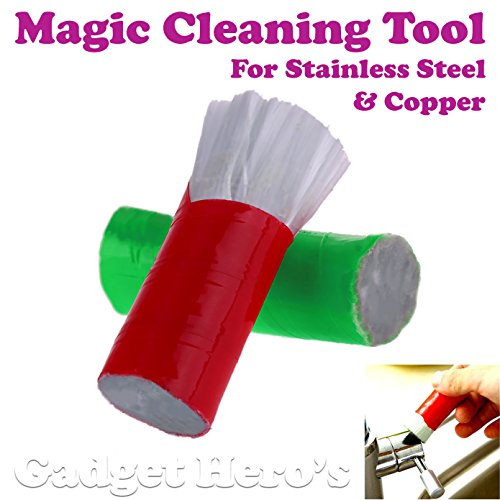 Gadget Hero's Magic Cleaning Tool For Stainless Steel & Copper. 2 Units Per Pack.