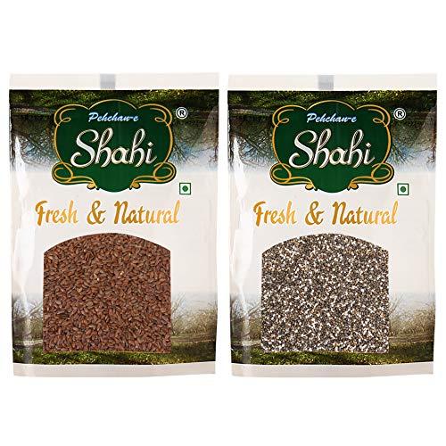Pehchan-E-Shahi Fresh & Natural Flax Seed(200g), Chia Seed(200g)- 2 Packets, 400 Gram