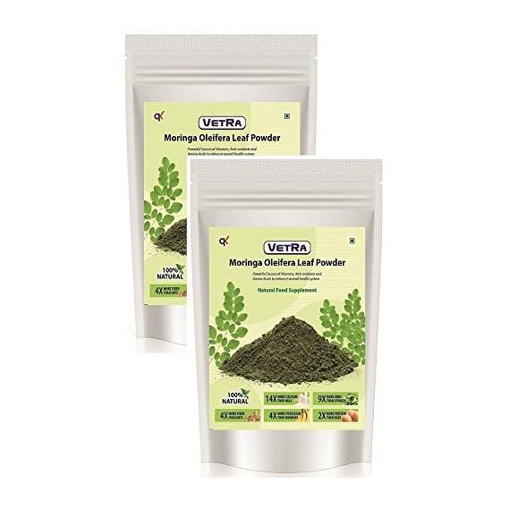 Organic Moringa Oliefera Leaf Powder -100 Grams * 2 Packs (Combo)