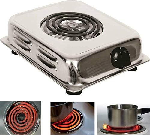 BERZ 1250W Electric Portable Stove G-Coil 3 Level Adjustable Switch
