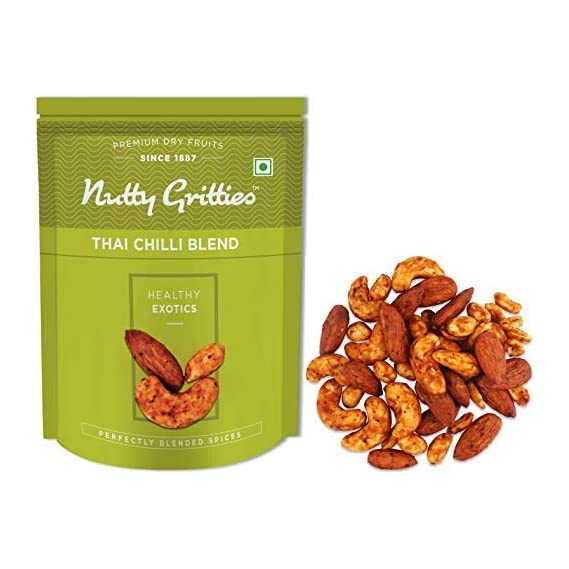 Nutty Gritties Thai Chilli Blend Trail Mix - Almonds, Cashews and Peanuts - 200g
