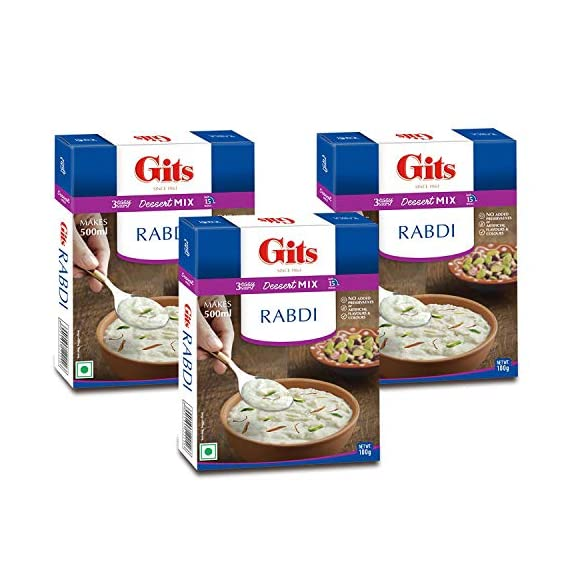 Gits Instant Rabdi Dessert Mix, 100g (Pack of 3)