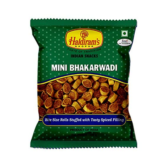 Haldiram's Nagpur Mini Bhakarwadi (200 gm) - Pack of 6