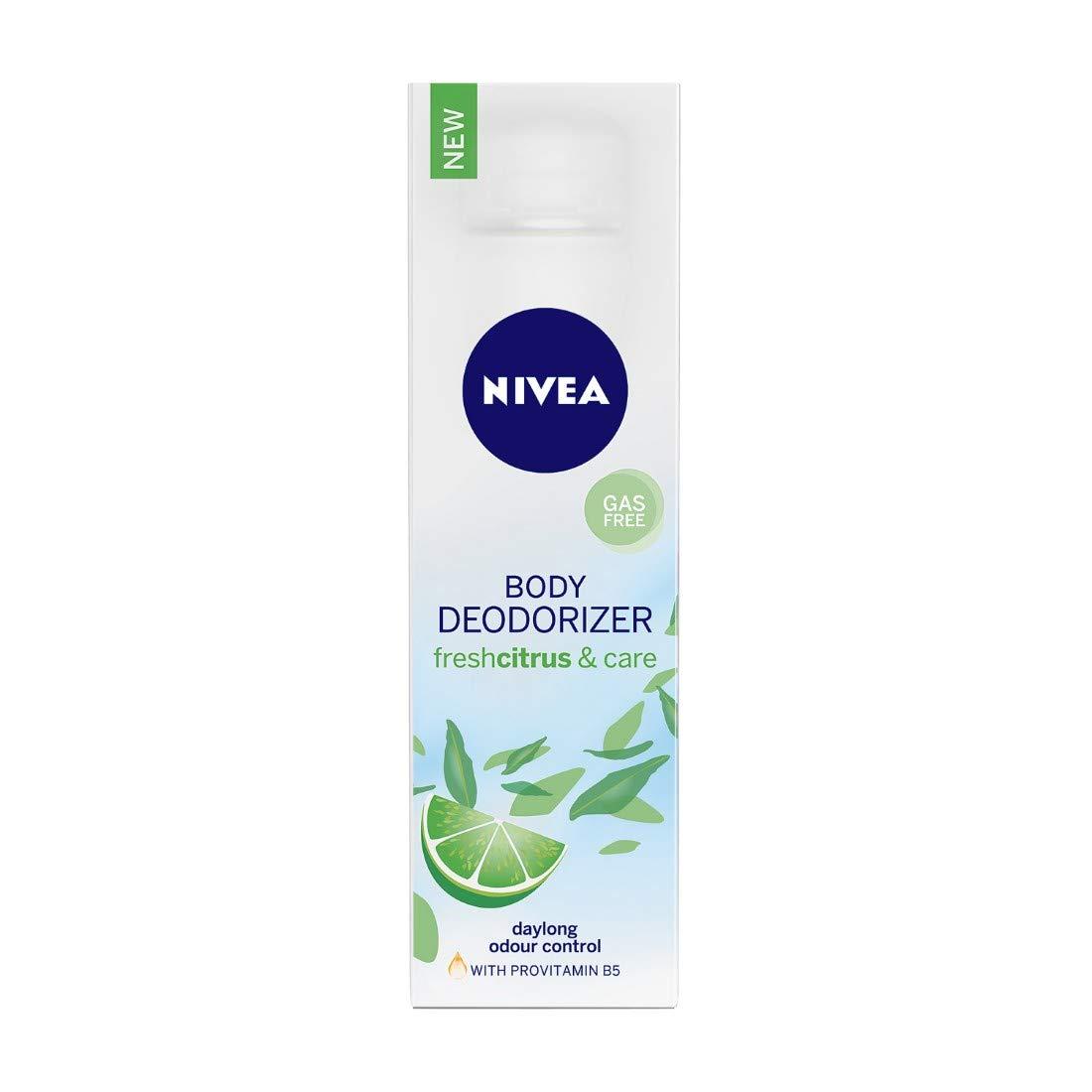 NIVEA Deodorizer, Fresh Citrus & Care Deodorant, Gas Free, Women
