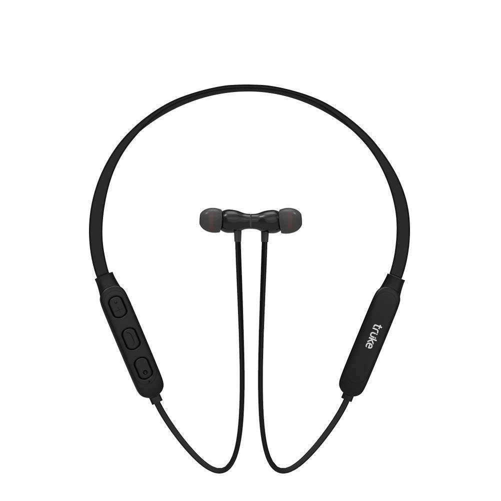 truke Yoga 2 in-Ear Wireless Bluetooth Headphones with Mic - (Black)