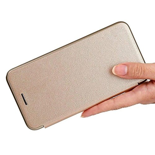 Helix Dustproof Magnetic Wallet Leather Flip Cover for Samsung Galaxy A9 Pro  2016    Gold Cases   Covers