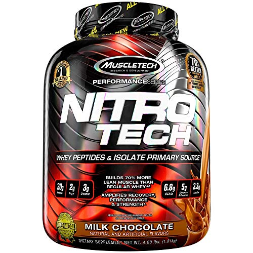 MuscleTech Health Express Nutrition with Nitrotech Performance Series Protein Powder (Milk Chocolate, 4 lbs)
