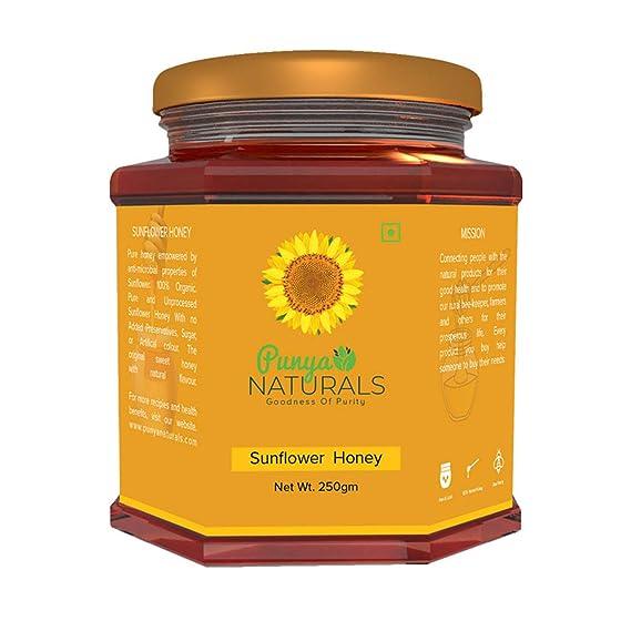 Punya Naturals Sunflower Organic Honey 250 gm