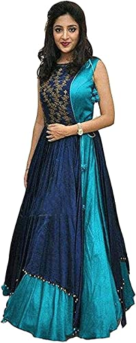 Women S Silk Gown Free Size Gowns