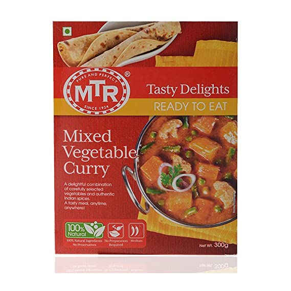 MTR Ready to Eat Mixed Vegetable Curry, 300g