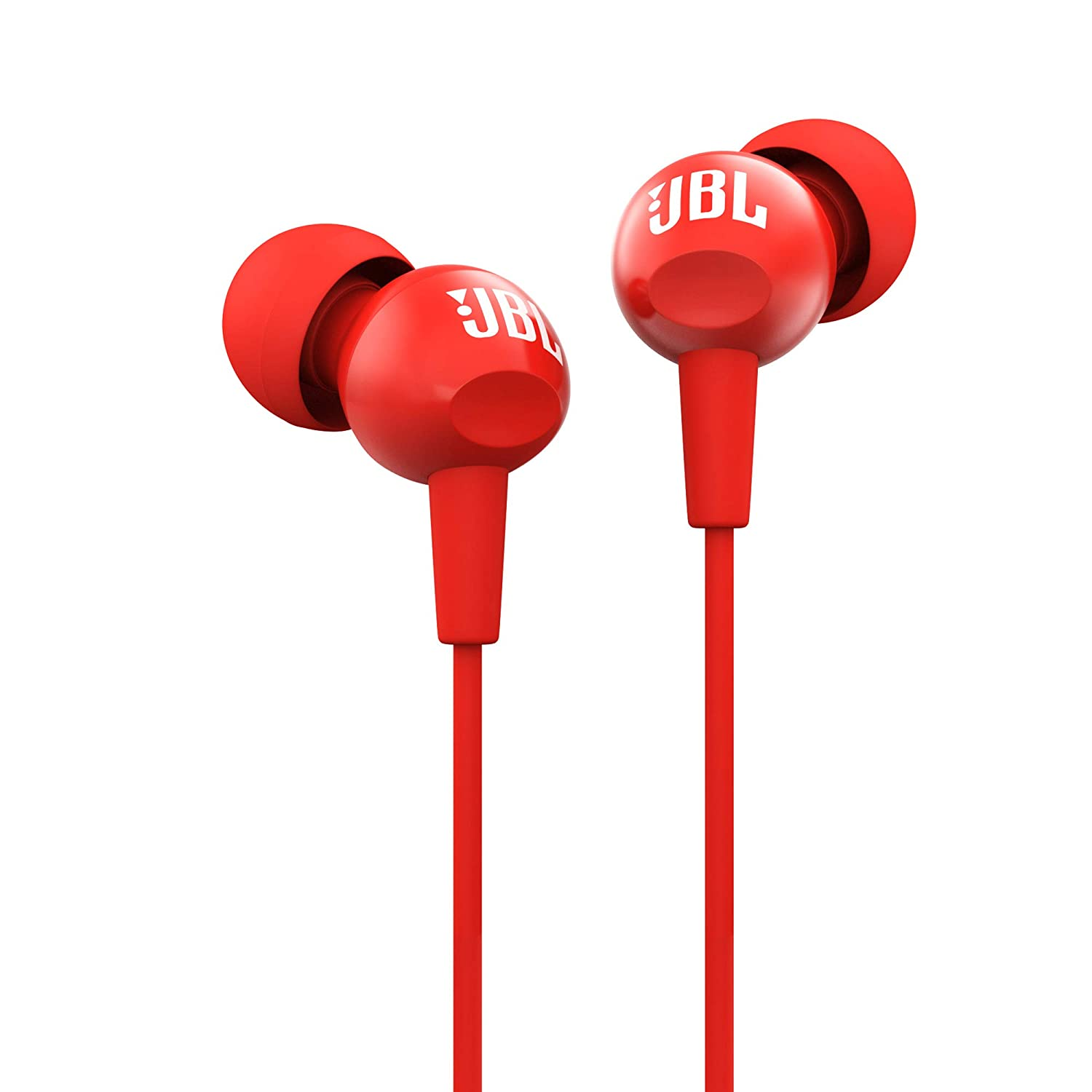 JBL C100SI In-Ear Headphones with Mic (Red)