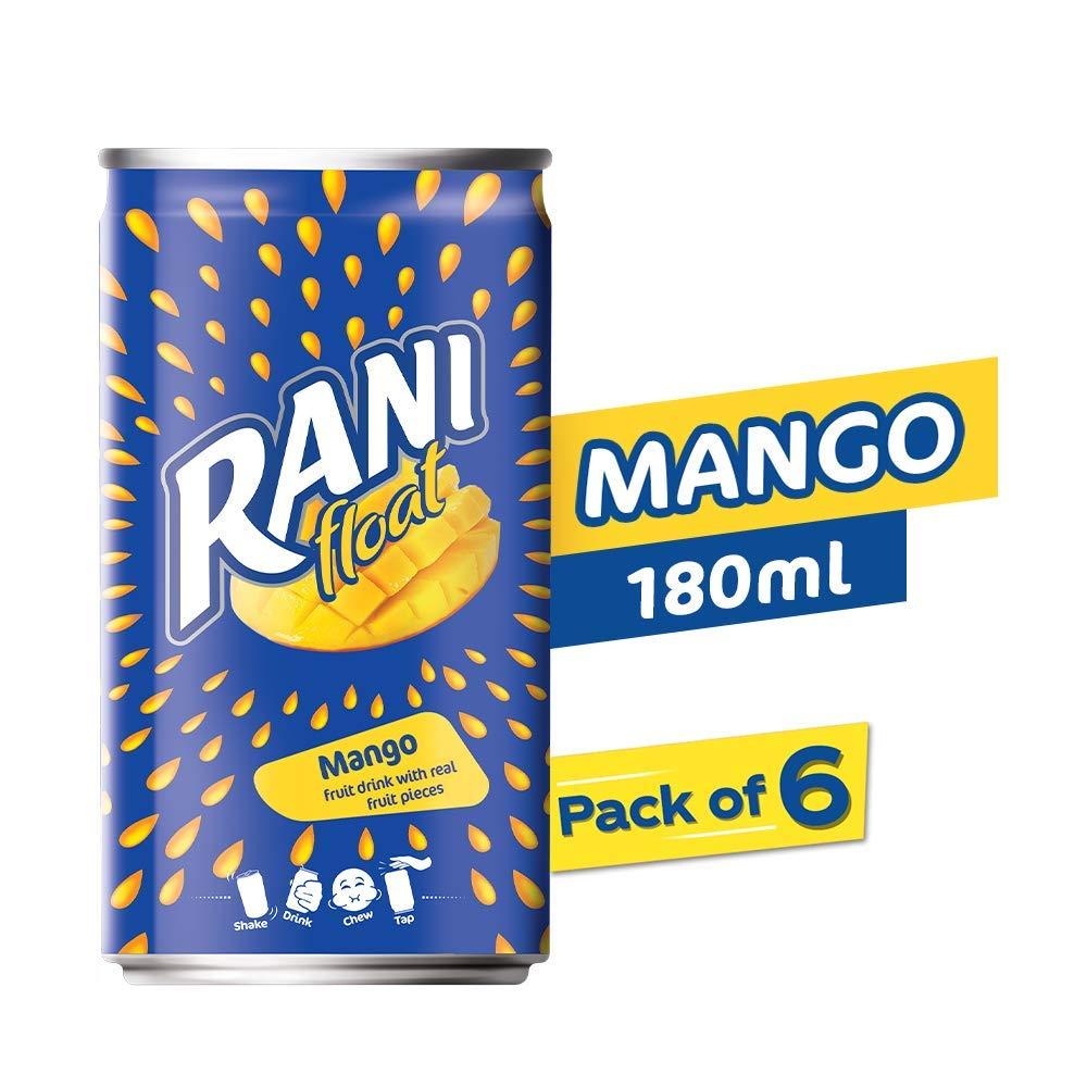 Rani Float - Mango - Can - Pack of 6 X 180 ml