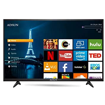 ADSUN 80 cm (32 Inches) HD Ready Smart LED TV 32AESL1 (Black) (2019 Model)
