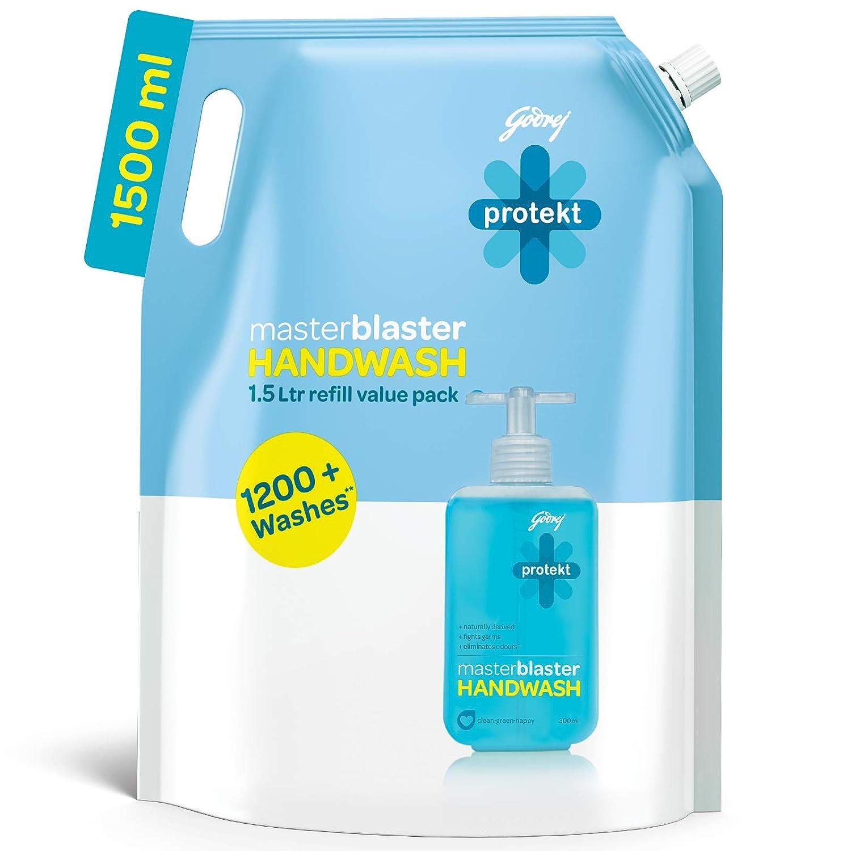 [Pantry] Godrej Protekt Masterblaster Germ Protection Liquid Handwash Refill, 1500ml