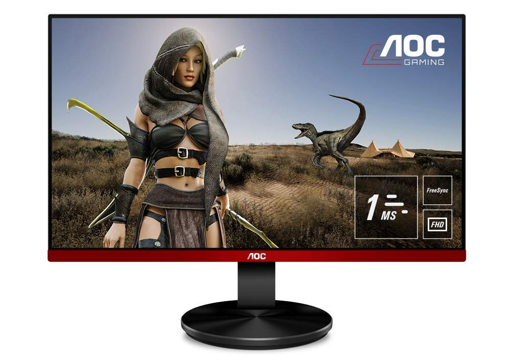 AOC 24.5 inch LED Gaming Monitor with HDMIx2 /VGA Port/Display Port, Full HD, Free Sync, 75Hz, 1ms, in-Built Speaker, Wall Mountable - G2590VXQ (Black)