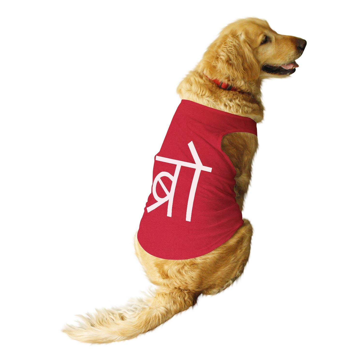Desi Bro Printed Tshirt by Ruse Round Neck Sleeveless Vest Tank T-Shirt/Tees for Dog Clothes