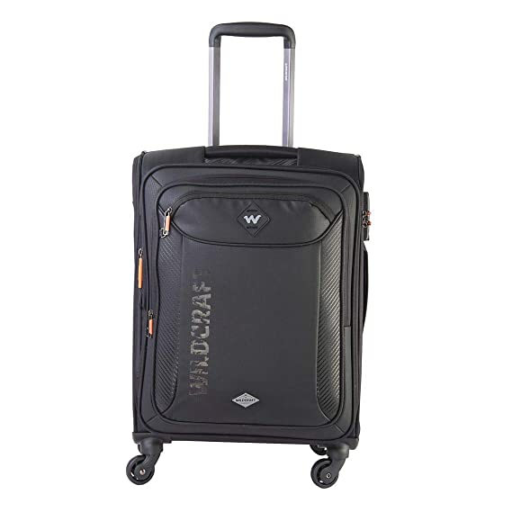 Wildcraft Polaris Anthracite Black Soft Travel Suitcase  12212  Small  WxDxH : 38x25.5x56.5 cm  Suitcases   Trolley Bags