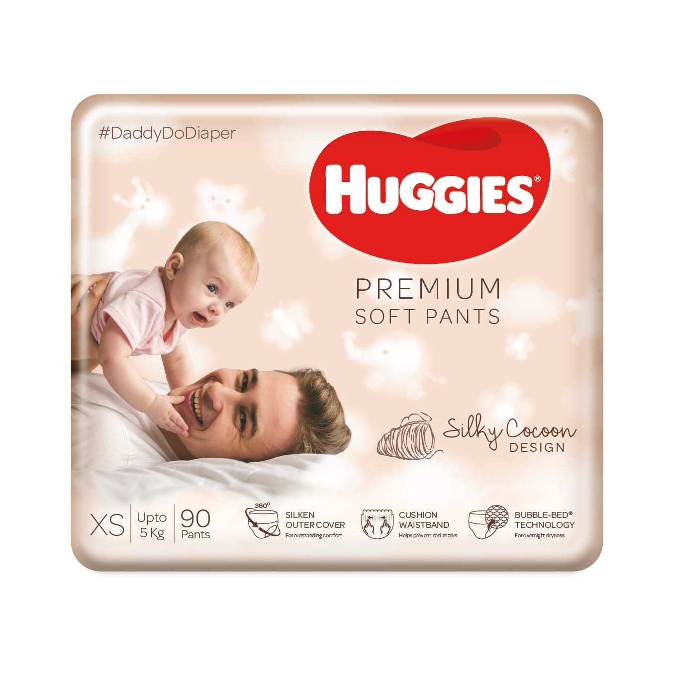 Huggies Premium Soft Pants, Extra Small (XS) Size Daipers, 90 Count
