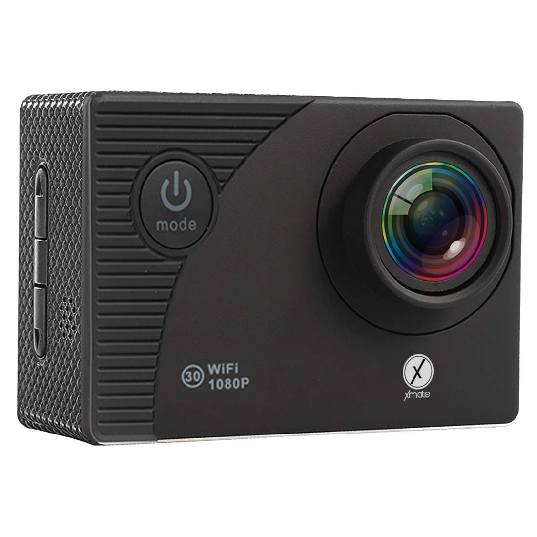 Xmate Shot Sports Action Camera (Black)  16MP Camera  1080P Full HD Video Recording   Water-Resistant   Supports Micro SD Card up to 32G (Revived)