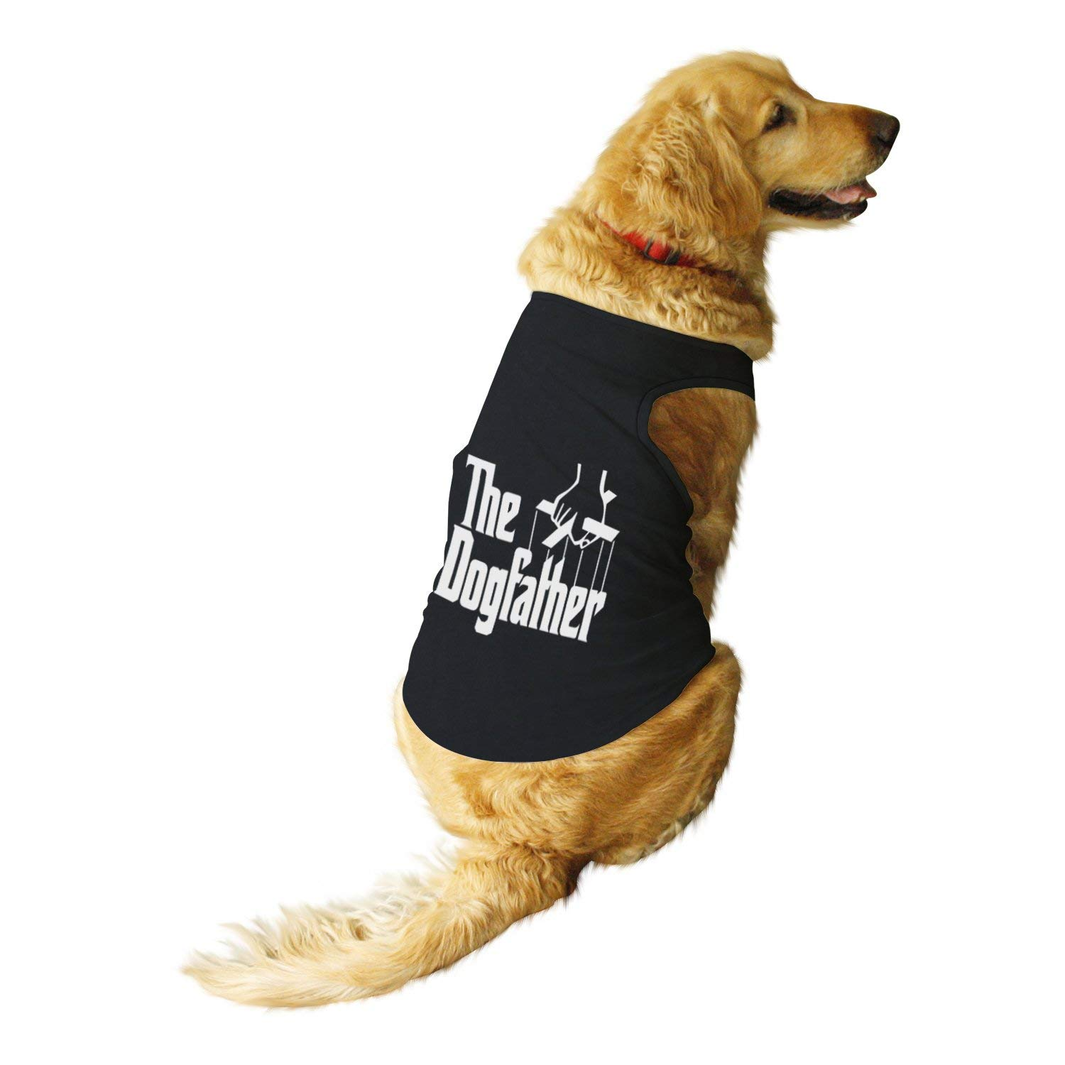 Dog father Printed by Ruse-Round Neck Sleeveless Vest Tank T-Shirt