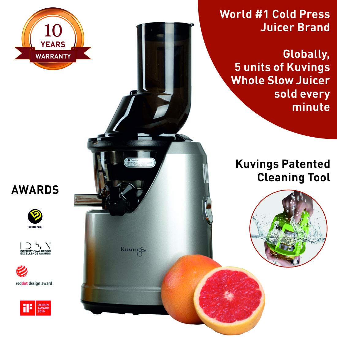Kuvings Professional Cold Press Whole Slow Juicer