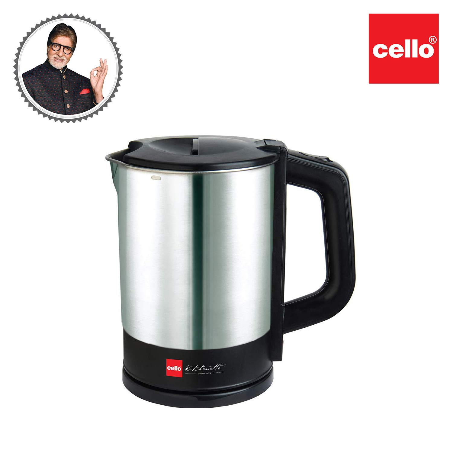 Cello Stainless Steel Quick Boil 900 Electric Kettle