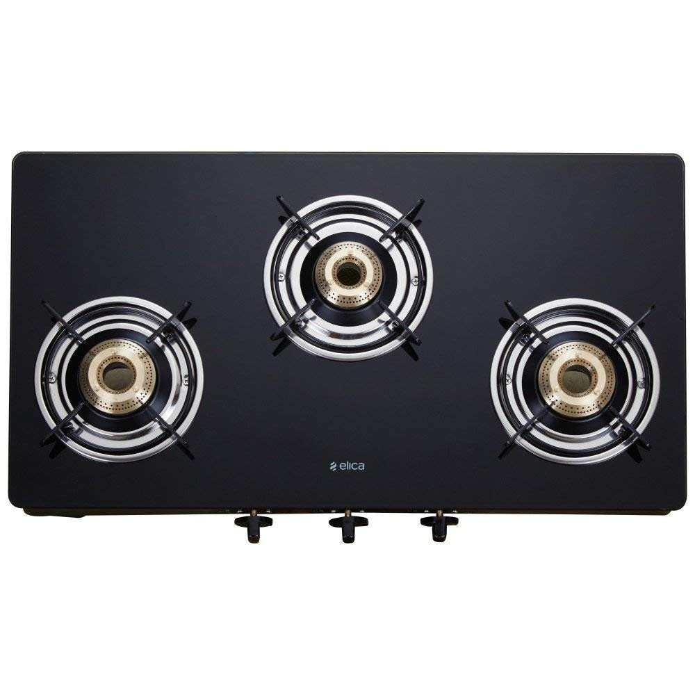 lica Vetro Glass Top 3 Burner Gas Stove