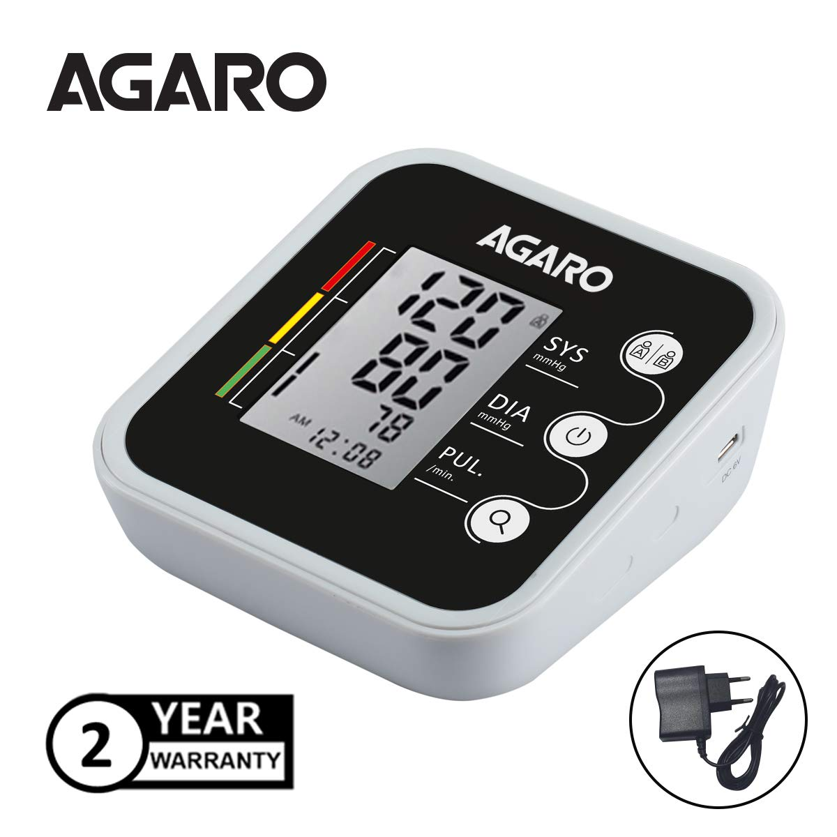 AGARO BP-501A Automatic Digital Blood Pressure Monitor with Dual User