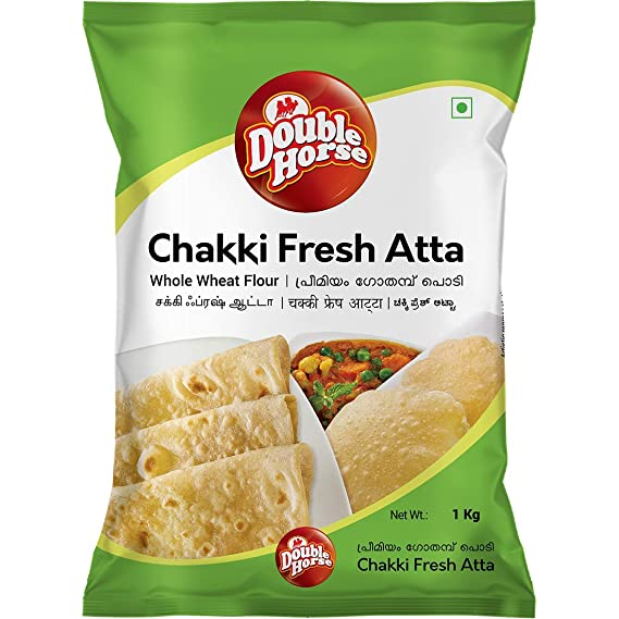 Double Horse Chakki Fresh Atta 1 Kg
