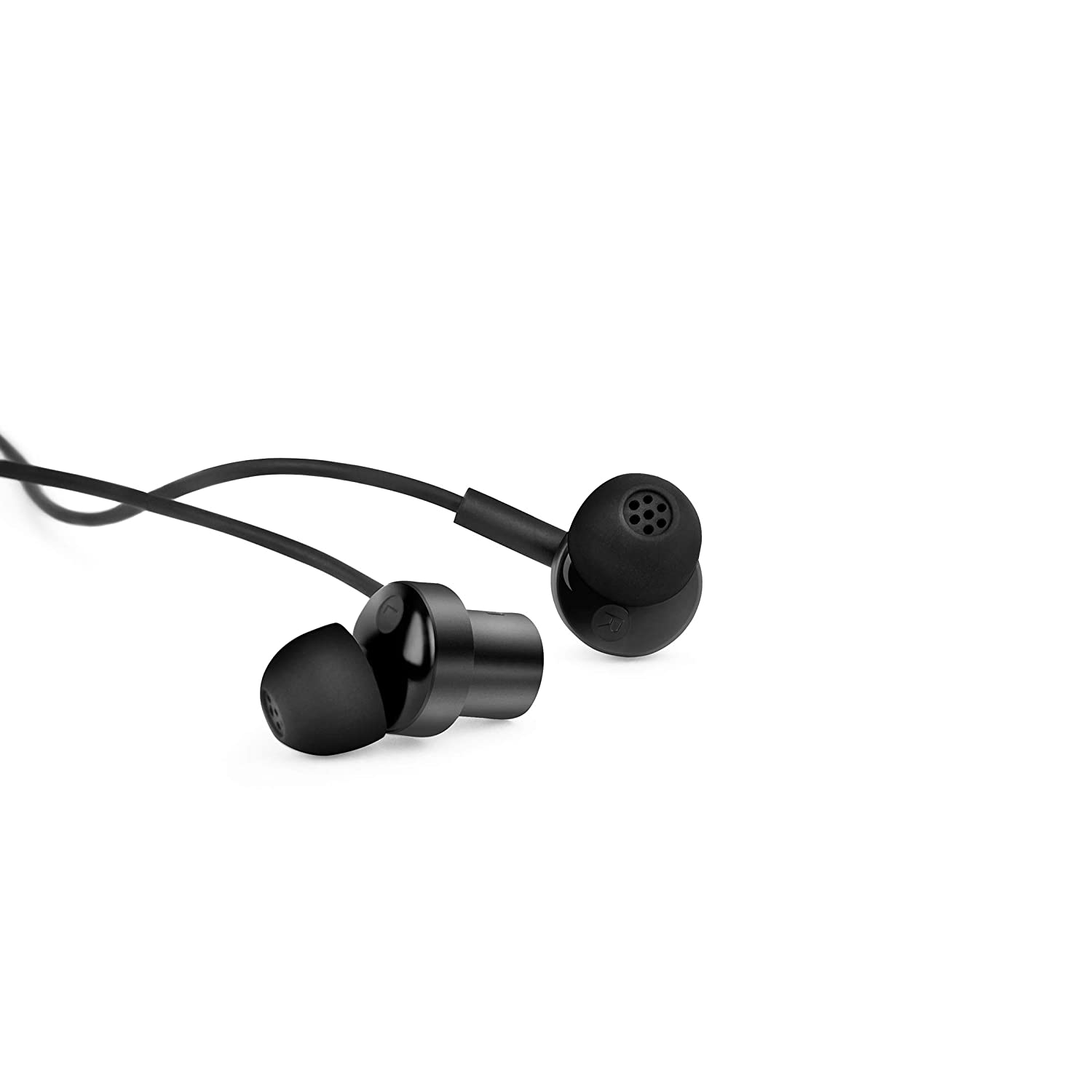Mi Dual Driver in-Ear Earphones with Mic, Crisp Vocals & Rich Bass, Tangle-Free Cable, One Touch Voice Assistant (Black)