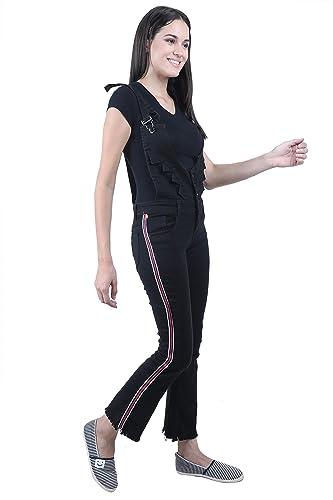Broadstar Women Skinny Fit Denim Dungaree Women's Jumpsuits