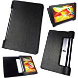 Zaoma Artificial Leather Flip Case Cover for Lenovo Yoga Tab 3 8 Yt3 850M Tablet   Black