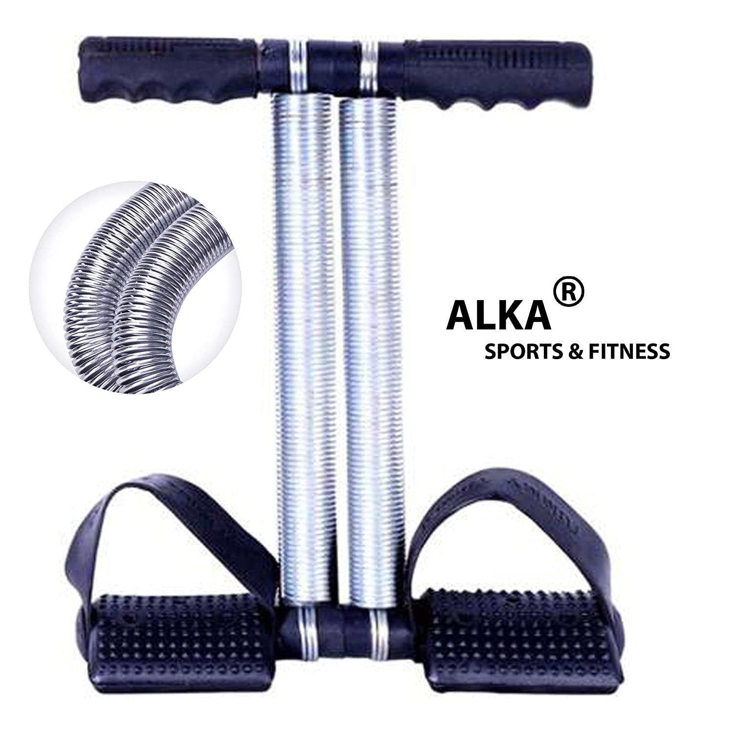 ALKA Double Steel Spring Tummy Trimmer for Women Black Color
