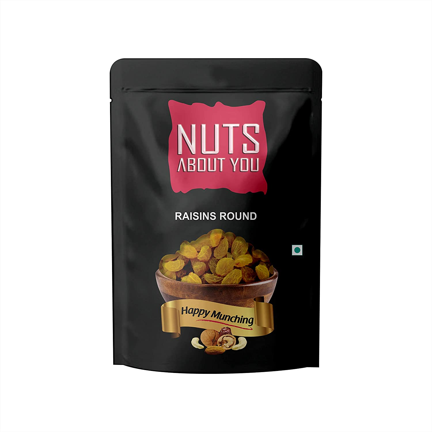 NUTS ABOUT YOU Raisin Round Pouch, 500 g