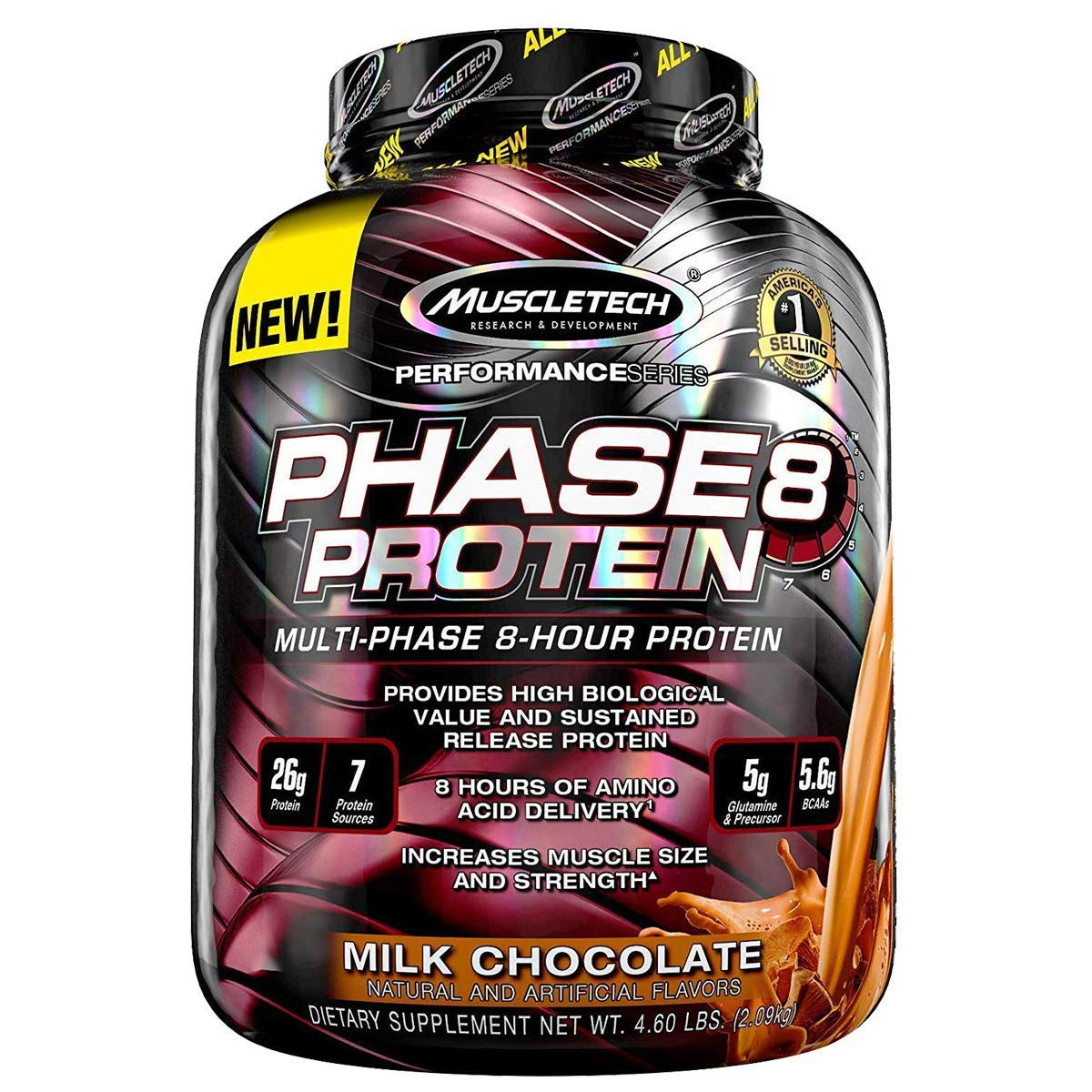 MuscleTech Performance Series Phase 8 Protein - 4.6 lbs (2.09 kg) (Milk Chocolate)