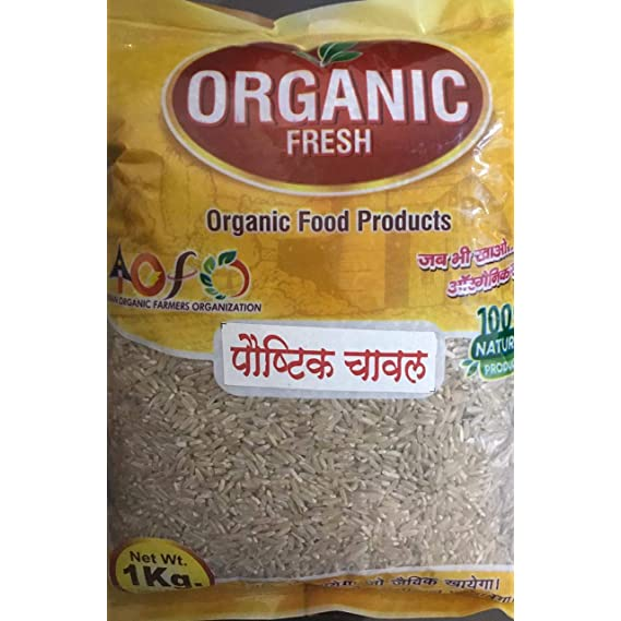 IOFO Organic Premium Quality Brown Rice, 1 Kg Packet ( Weight Loss Special )