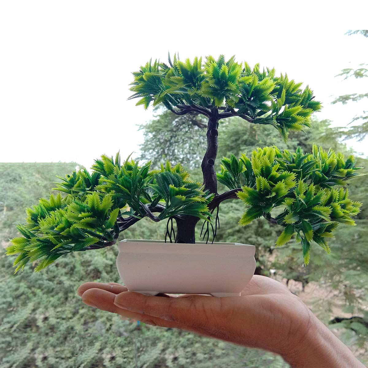 Reiki Crystal Products Beautiful Green Purple Artificial Bonsai Tree Plant With Pot Bonsai Tree For Indoor Buy Online In Grenada At Grenada Desertcart Com Productid 75811934