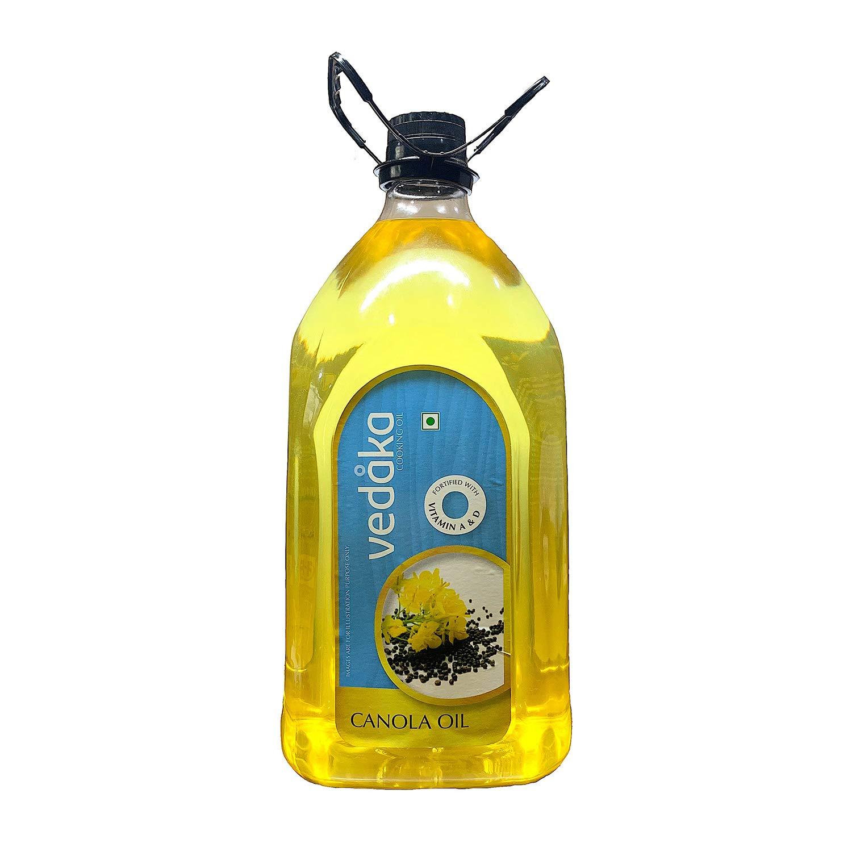 Amazon Brand - Vedaka Canola Oil Jar, 5L