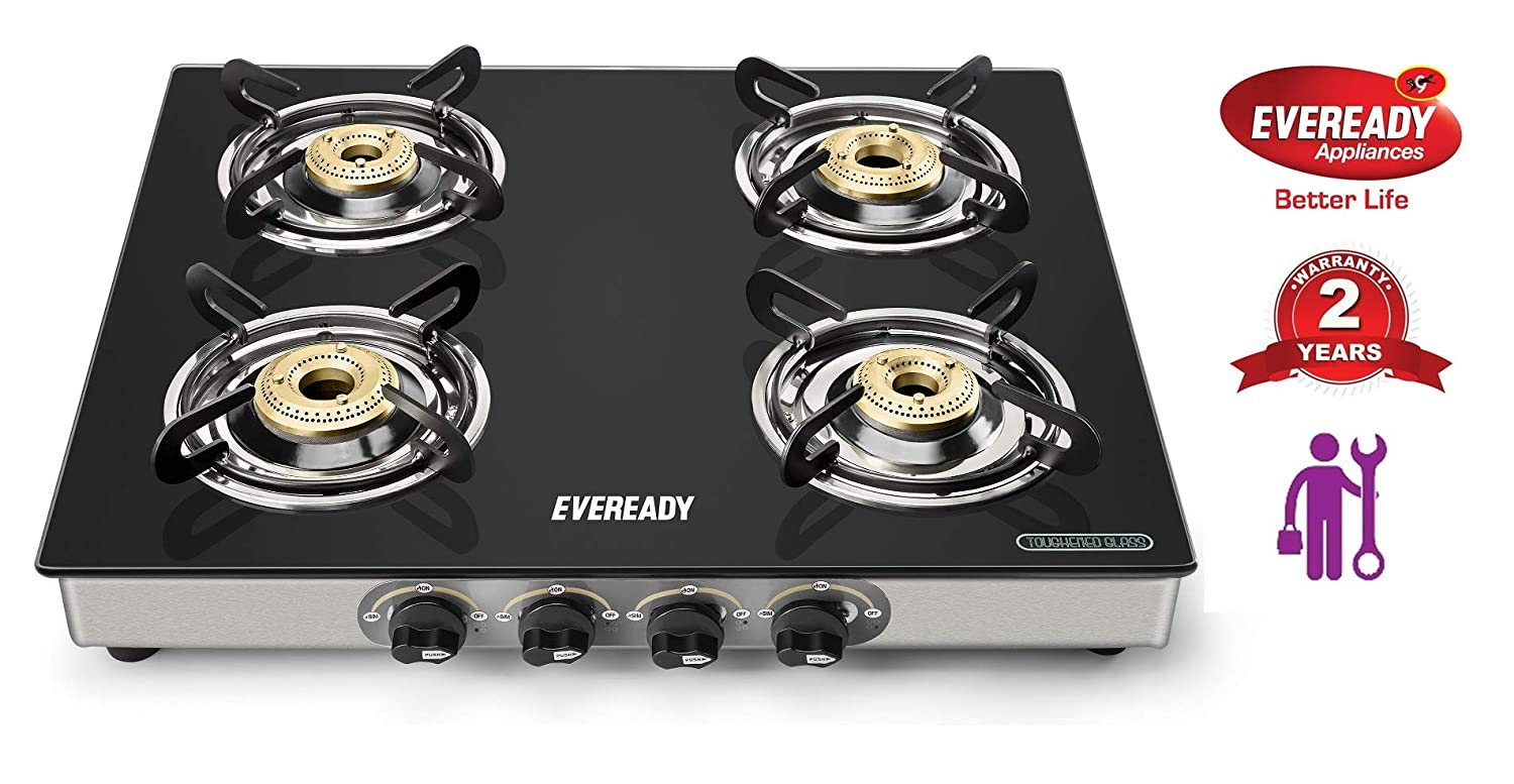 Eveready TGC4B Glass Top Gas Stove