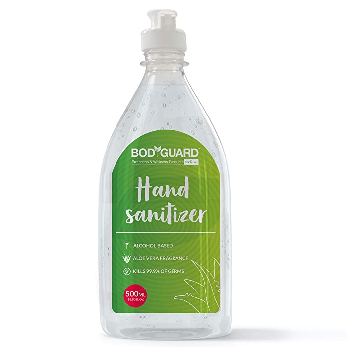 [Pantry] BodyGuard Alcohol Based Hand Sanitizer with Aloe Vera - 500 ml with Enriched Tea Tree Oil and Vitamin E