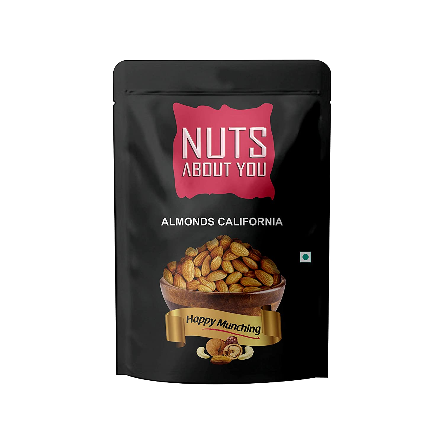 NUTS ABOUT YOU Almonds California Pouch, 500 g