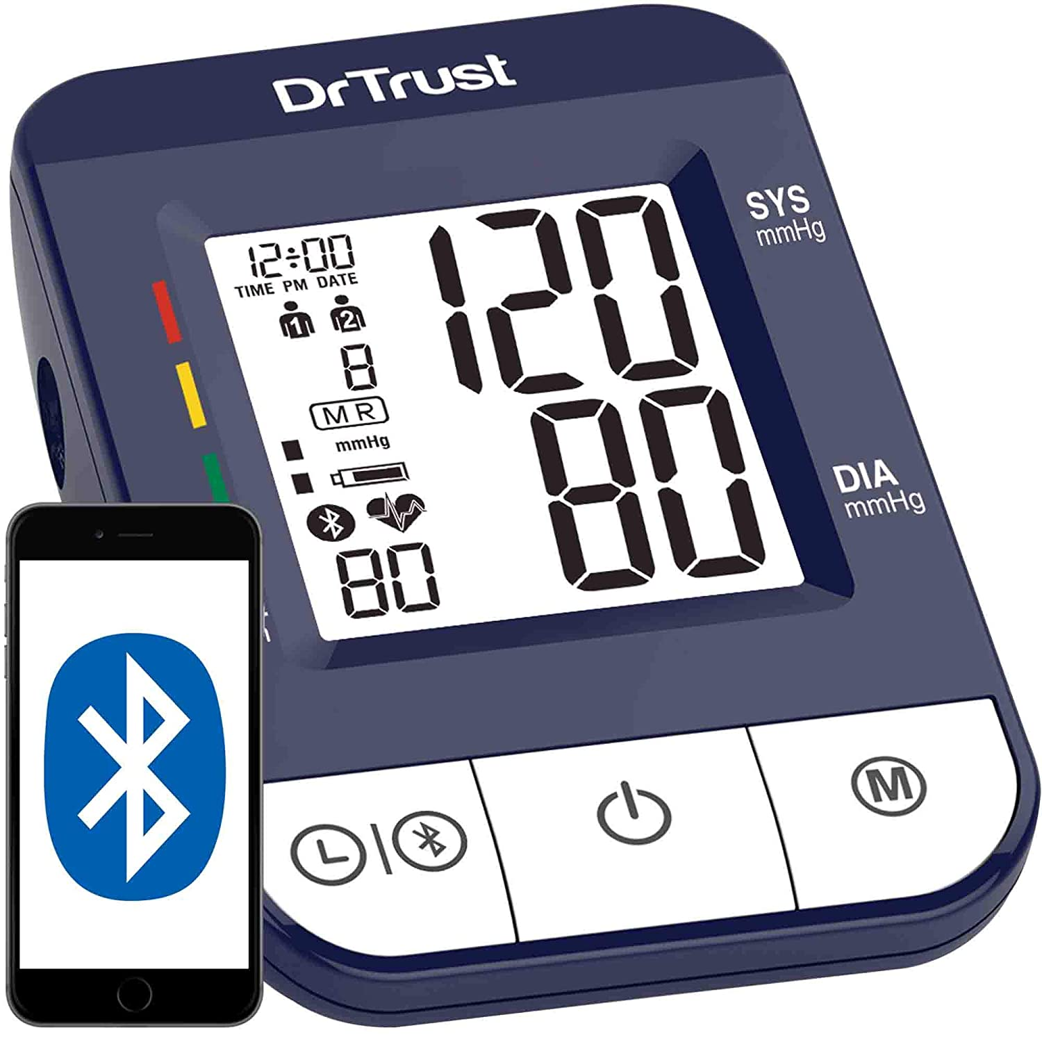 Dr. Trust Digital Blood Pressure Monitor and Testing Machine with USB Port
