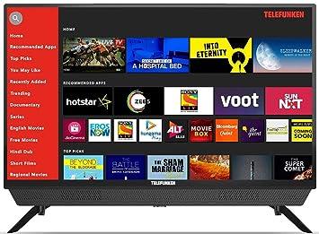 Telefunken 80 cm (32 Inches) HD Ready Smart LED TV TFK32S (Black) (2019 Model)  With Built-in Soundbar