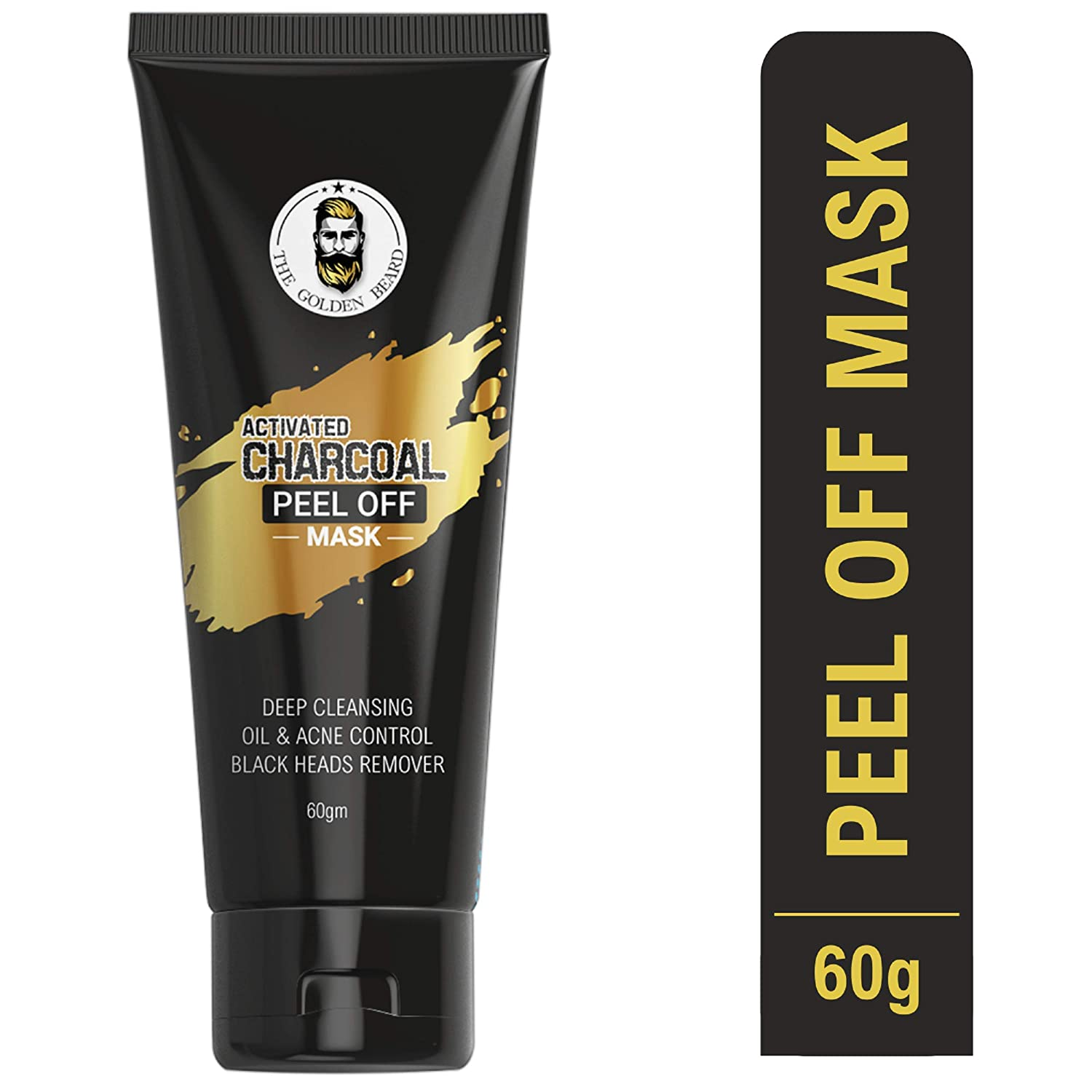 The Golden Beard Charcoal Peel Off Mask | Deep skin cleansing Mask | 60gm