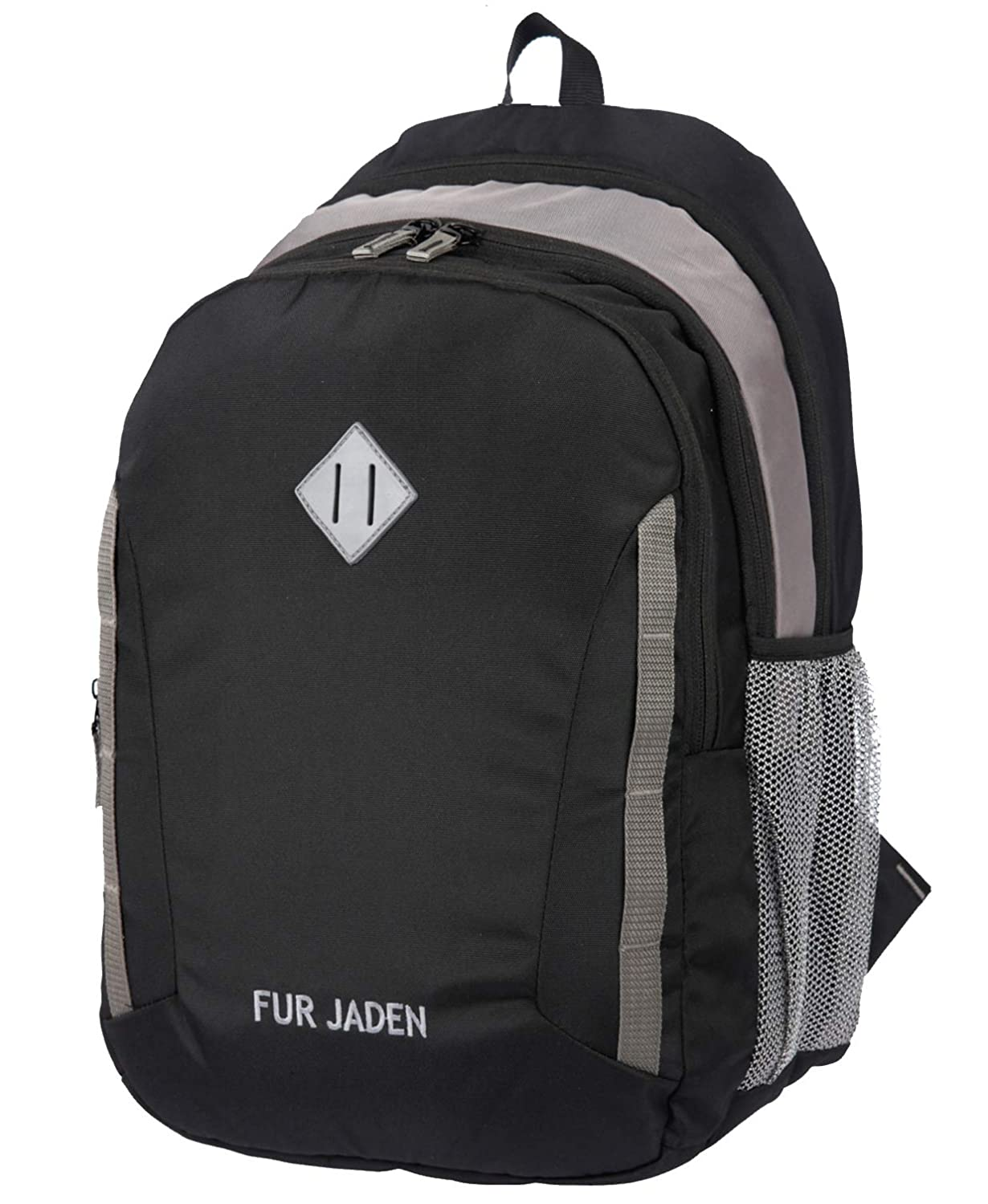 Fur Jaden 30L Black 15.6 Inch Laptop Backpack Casual Daypack for School College and Office (Black)